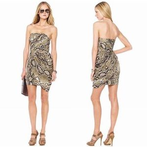 Michael Kors $149 Snake Print Strapless Dress 4